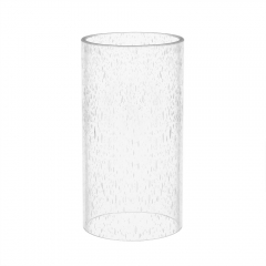 Straight Cylinder Clear Bubble Glass Lamp Shade