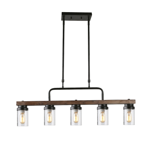 Anmytek Kitchen Island Pendant Lighting With Bubble Gl Shade Rustic Chandelier Retro Ceiling Light Or Edison Vintage Hanging